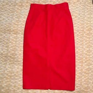 Banana Republic red skirt